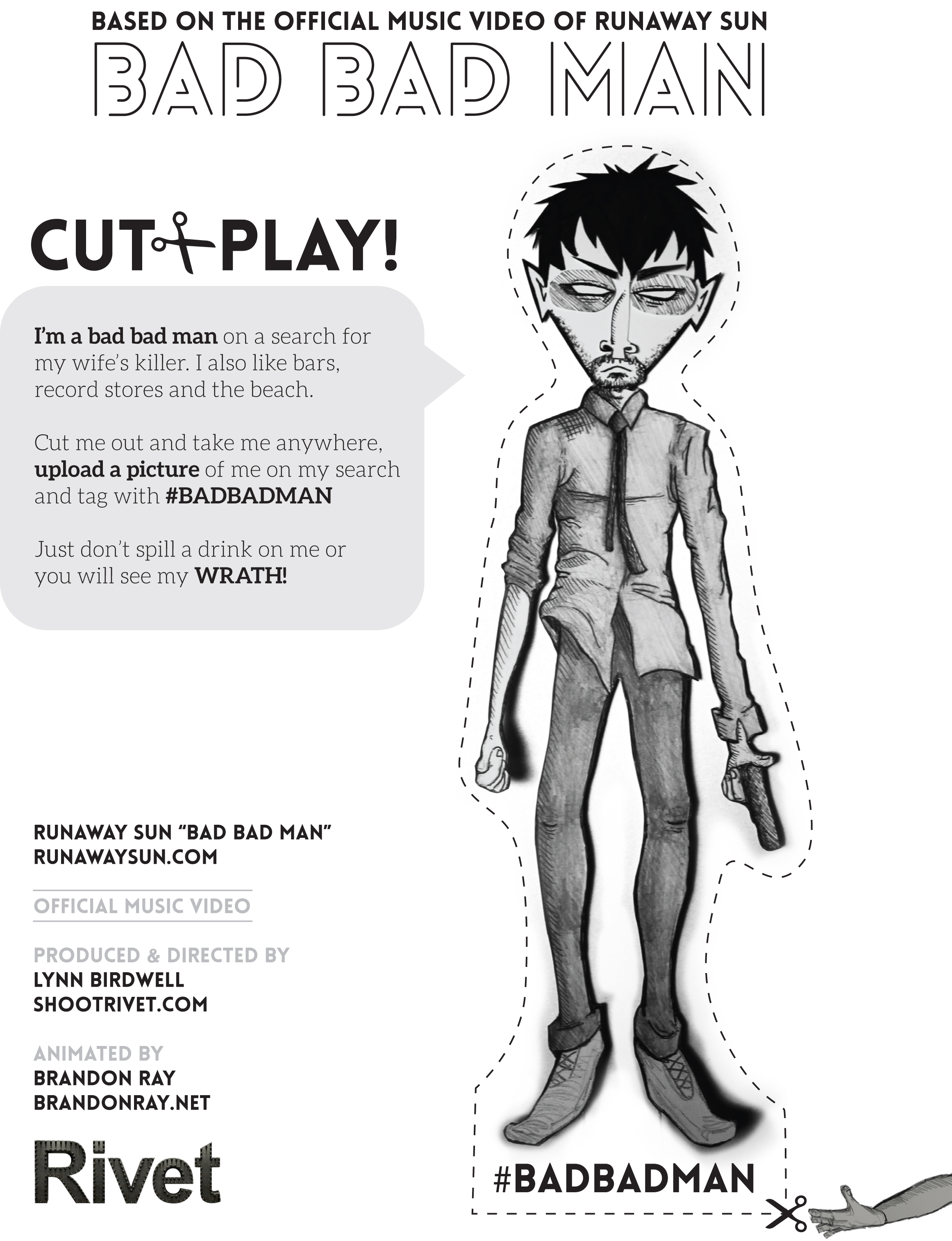 Bad Bad Man Cut and Play